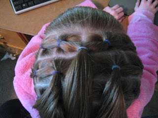 Rows of Three | Cute Hairstyles - Step 7