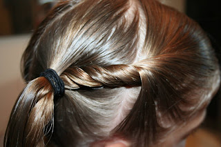 Twist-back Ponytail Twists #8