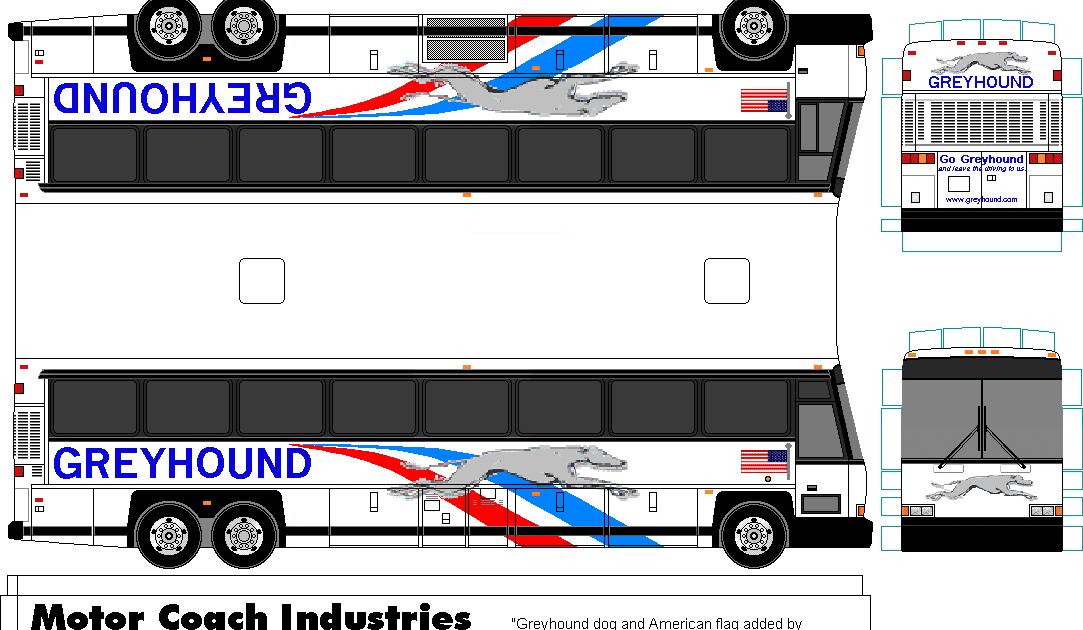 Sp Papel Modelismo Papercraft Greyhound Bus D4500