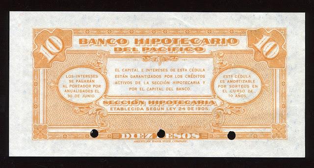 Colombia paper money ten pesos