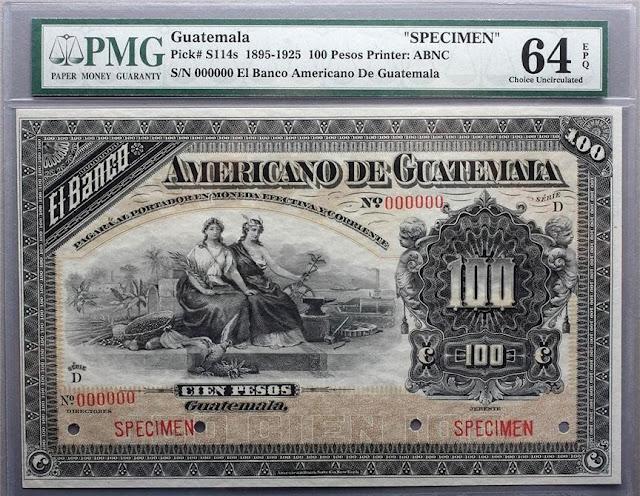 Banco Americano Guatemala 100 Pesos