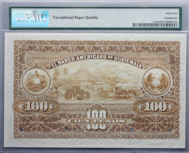 Banco Americano Guatemala Pesos money billete