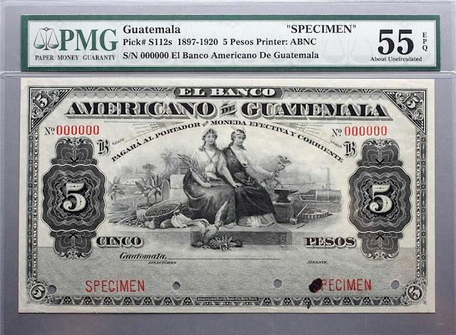 Guatemala Pesos banknote paper money