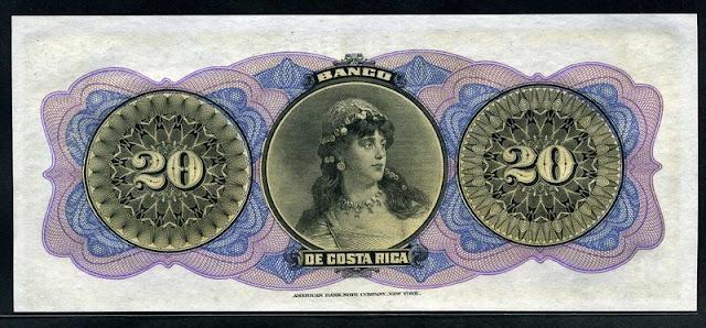Costa Rica paper money Pesos