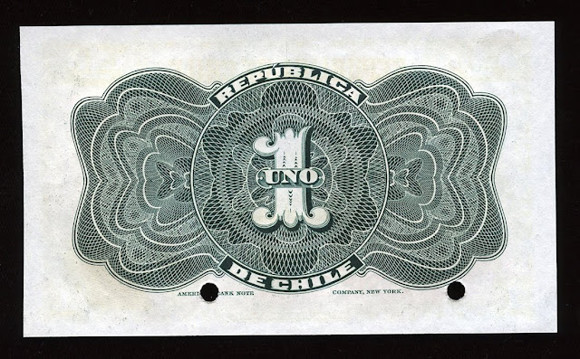 Chile paper money peso banknote