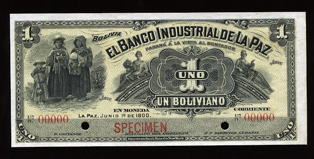 Billete currency Bolivia paper money Boliviano banknote