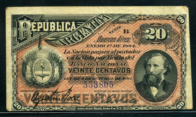 Argentina 20 Centavos banknote Fractional Currency