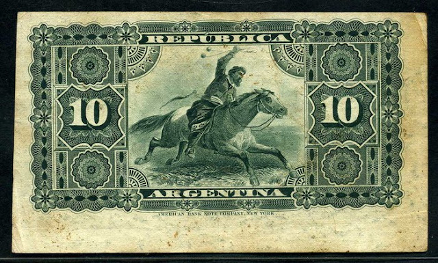 currency Argentina 10 Centavos banknote