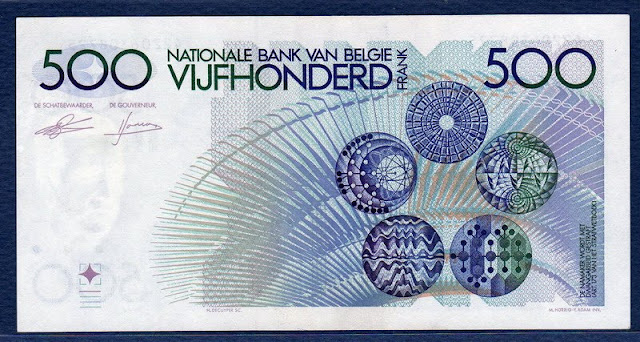 Belgium banknote 500 Francs