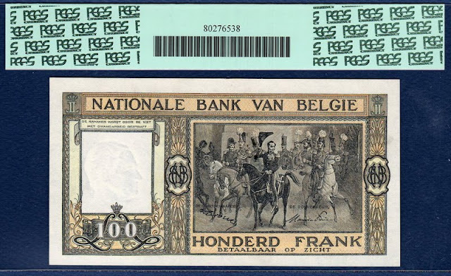World Currency Belgium 100 Francs