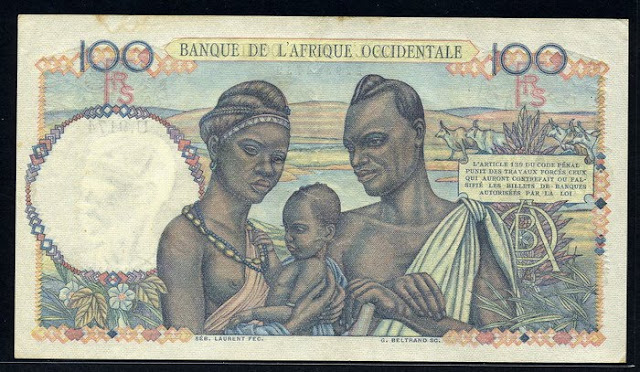 History of money French West Africa 100 Francs French numismatic