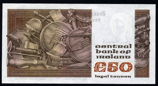 Ireland Republic money 50 Pounds note