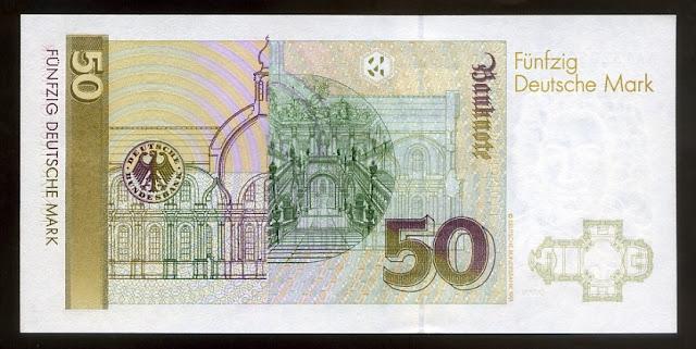 Germany Paper Money 50 Deutsche Mark currency image gallery