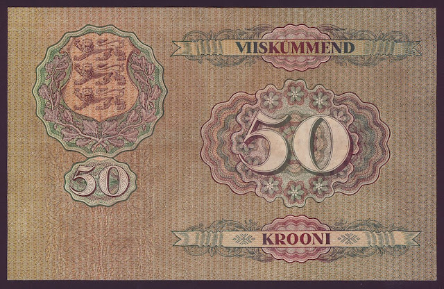 Paper Money ESTONIA 50 Krooni bill