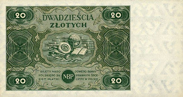 20 Zlotych banknote, 1947 issue