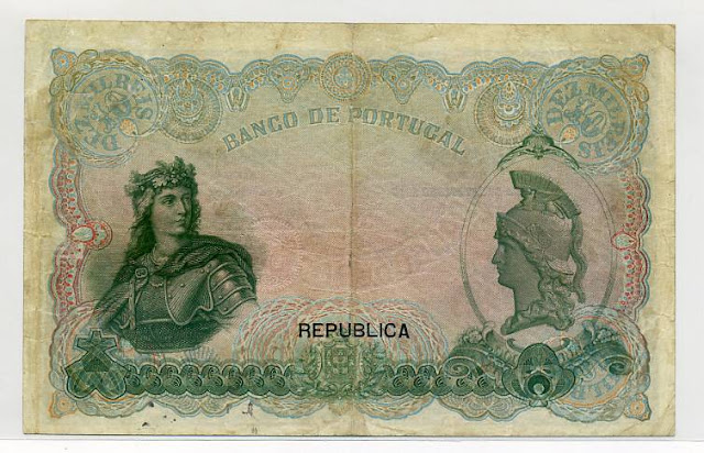 Portuguese bank notes 10 Mil Reis banknote