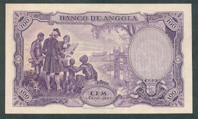Portuguese Angola 100 Angolares banknotes collection