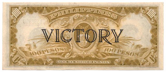 100 Peso Pesos note Victory bill Treasury Certificate