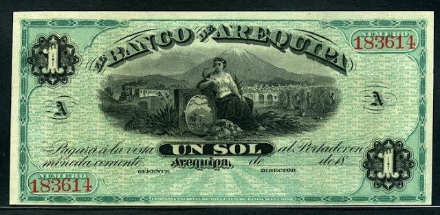 Peru banknote 1 Sol