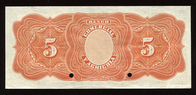 5 Sucres Specimen Banknote