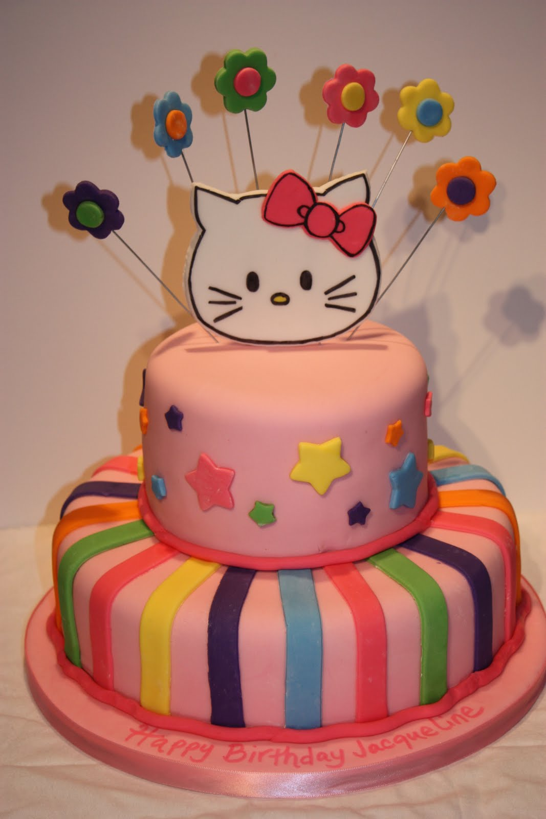 Whimsical by Design Hello Kitty Birthday Cake