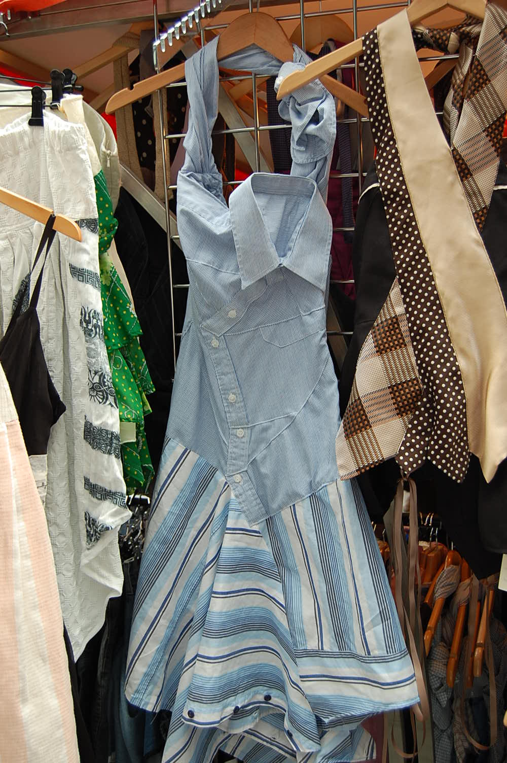 dress made out of a shirt portobello road