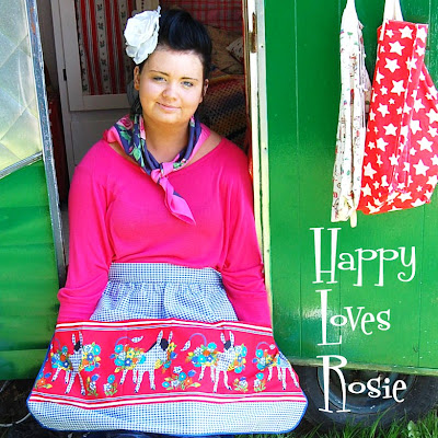Happy Loves Rosie vintage caravan