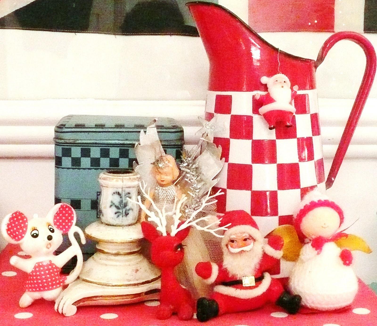 Vintage oddment of christmas decorations