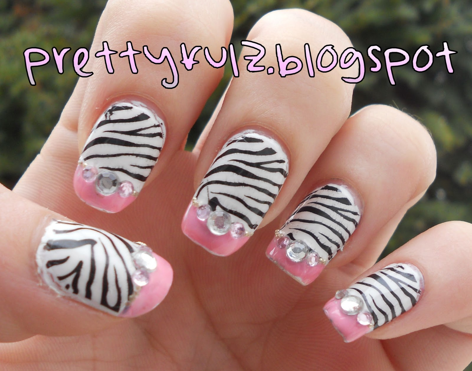 Zebra Nail Designs | www.imgkid.com - The Image Kid Has It!