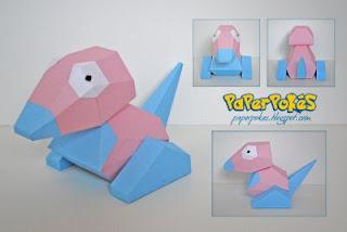 Paperpokes Pokemon Papercraft Porygon