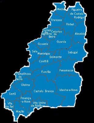 beira interior mapa Simulação do Referendo sobre a Regionalização   Page 11  beira interior mapa