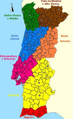 beira interior mapa Qual o melhor mapa para as futuras regiões administrativas de  beira interior mapa