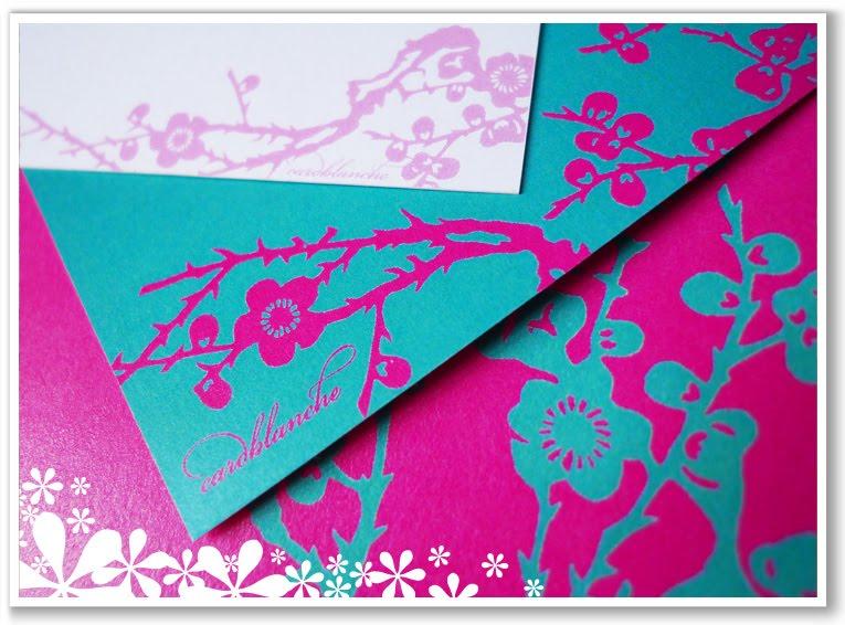 Turquoise Fuchsia Wedding: Cardblanche Exquisite Stationery: Turquoise & Fuchsia