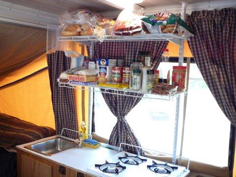 Kitchen Shelf Mod For Pop Up Camper