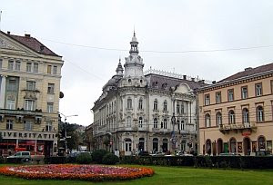 The Continental building in Cluj Napoca