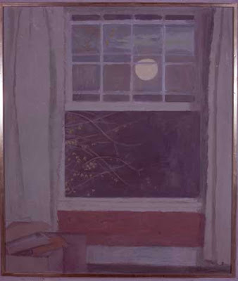 Mary Potter's painting OPEN WINDOW BY MOONLIGHT from Britten's house in Aldeburgh