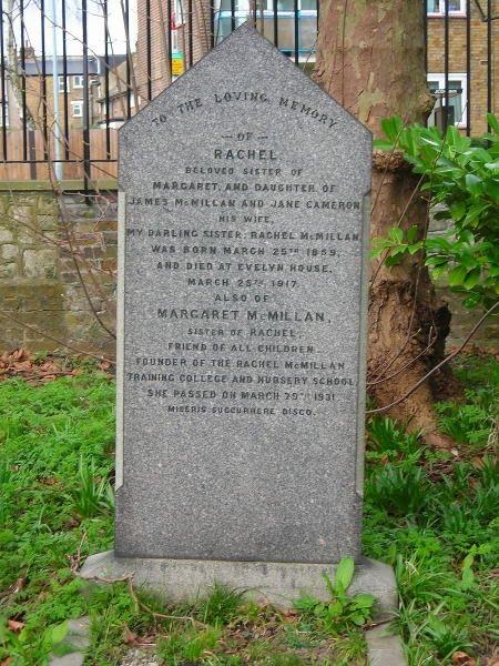 Margaret McMillan gravestone, Brockley & Ladywell Cemeteries