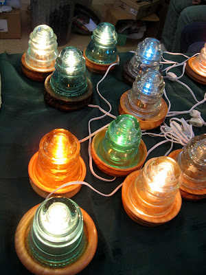 glass insulators crafts willits daily photo crafts fairs 2092