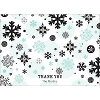 falling snowflaes card