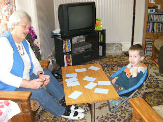 playing cards with grandma - memory training