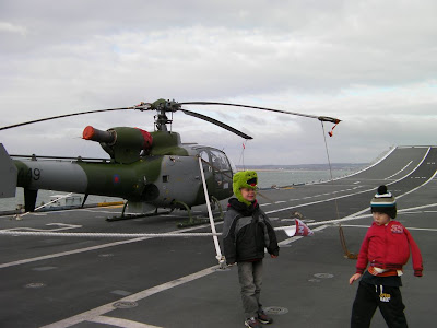 carrier with helicopter