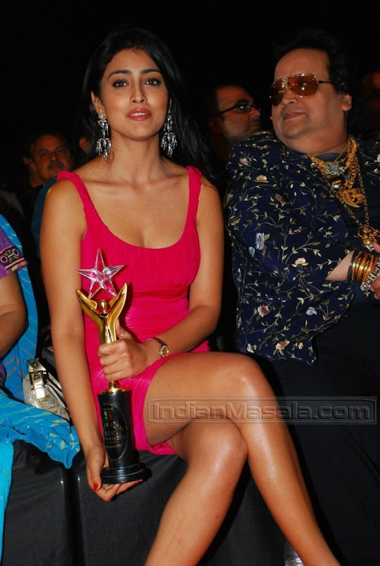 Hot Shriya Saran Leg Show From Stardust Award Function