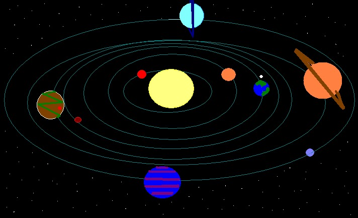drawing of planets in solar system - photo #48