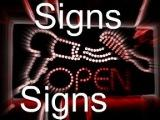 Weds: signs, signs, w/Lesley