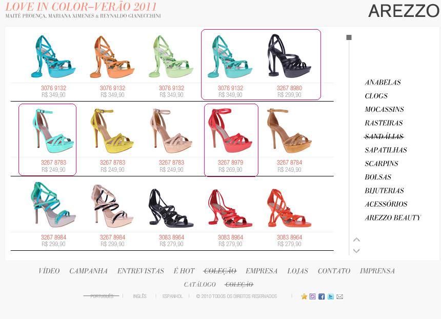 5c2a32e28 Jackie Siqueira MakeupLançamento: Arezzo Love in Color Verão 2011 ...
