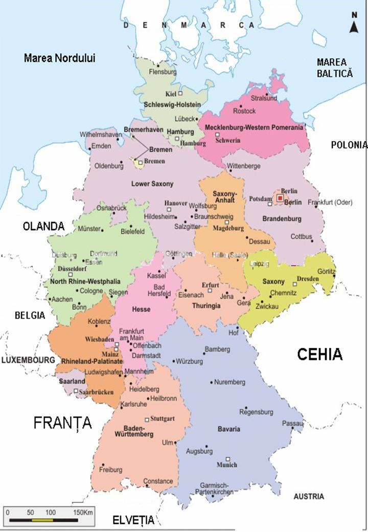 Descoperalumea Descovery World Harta Politică Germania Political