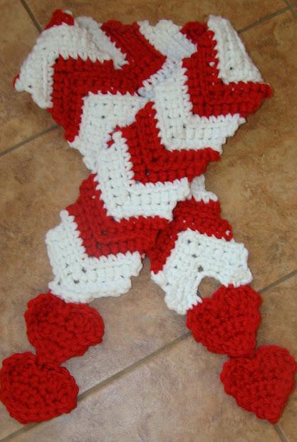 Crafts Starlight Crochet Valentine Scarf
