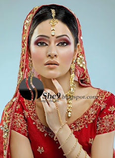 It Is Called Arabic Sirlankan And Deshi Stani Indian Bridal Makeup For Wedding Parties The Have Nice Grow Of Cheeks Contrast Lip