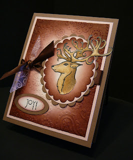 Handmade Christmas card featuring Unity stamps