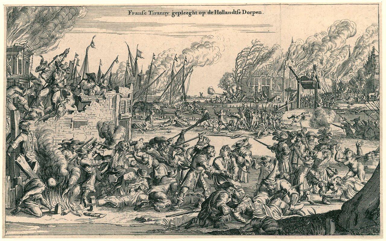 Franse wreedheden verbeeldt door Romeyn de Hooghe (bron:  rampjaar.blogspot.com)